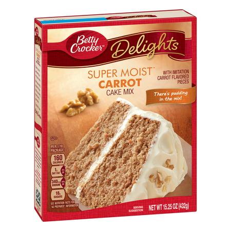 (3 Pack) Betty Crocker Super Moist Carrot Cake Mix, 15.25 oz - Halloween Carrot Cake Muffins