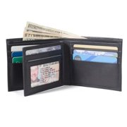 RFID Wallet in Genuine Leather Bifold 10 Slot Classic - Protective Wallets for Men - Excellent Quality Leather - blk
