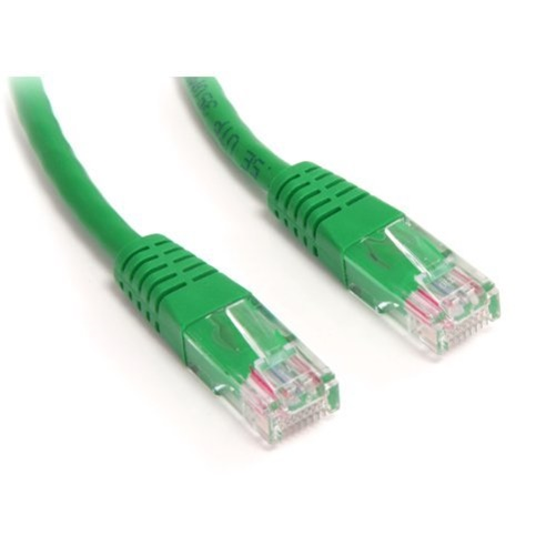 StarTech 1 ft Green Molded Cat5e UTP Patch Cable M45PATCH1GN