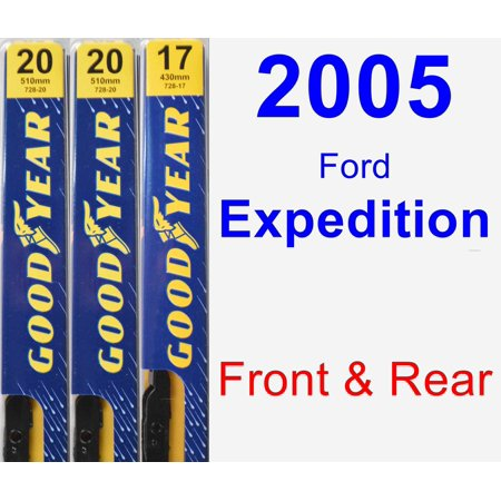 Fork Wiper - 2005 Ford Expedition Wiper Blade Set/Kit (Front & Rear) (3 Blades) - Premium