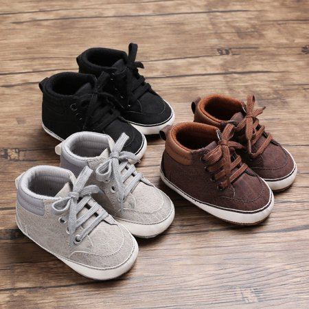 Falke Cotton Sneakers (Newborn Baby Kids Girl Boys Cute Cotton First Walkers Lace-Up Sneakers Shoes)