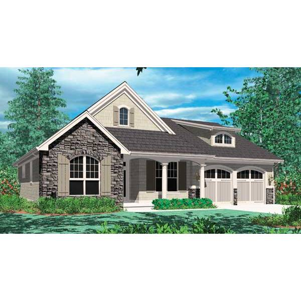 TheHouseDesigners-2432 Small Bungalow House Plan with Crawl Space Foundation (5 Printed Sets)