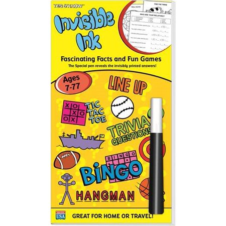 Yes & Know Invisible Ink Trivia & Game Book Ages - Yes Know Invisible Ink Books