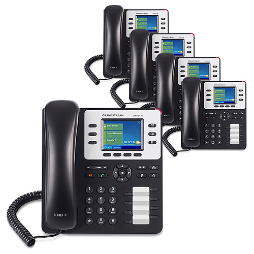 """Grandstream GXP2130 (5 Pack) 3 Line Enterprise IP Phone"""