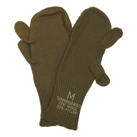 US Army Genuine Issue Trigger Finger Mitten Inserts OD Wool Nylon Blend 3 Pack Us Army Standard Issue