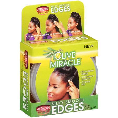 (2 Pack) African Pride Olive Miracle Silky Smooth Edges Hair Gel 2.25 oz.