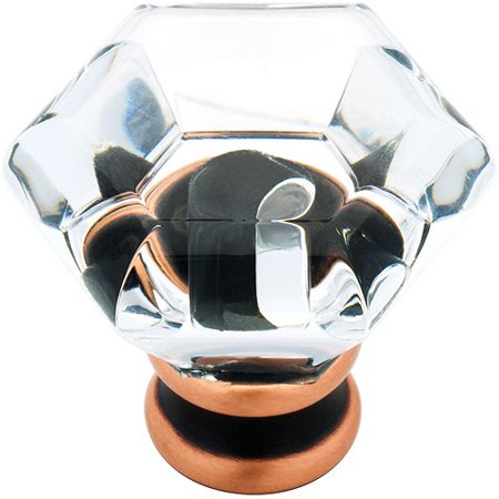 Acrylic Faceted Knob (Liberty Bronze with Copper Highlights and Clear 1-1/4