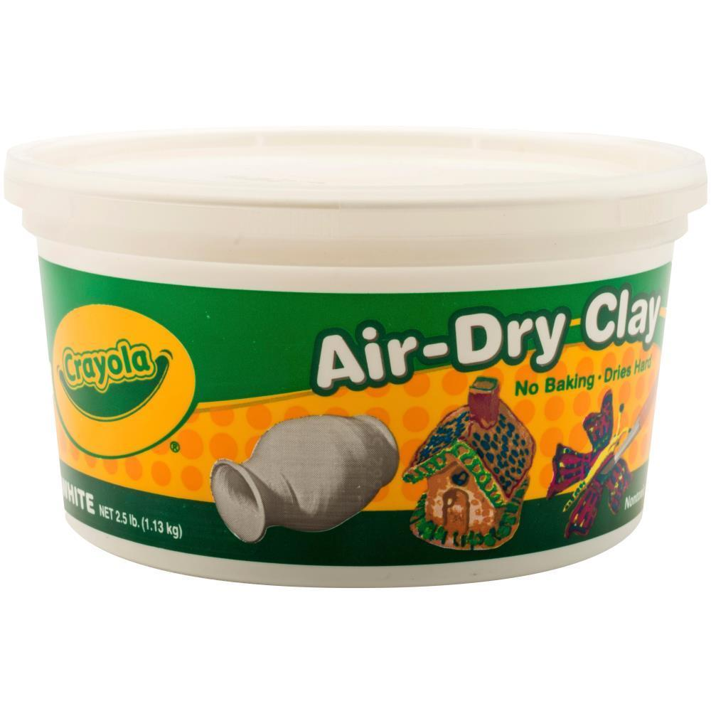 Crayola Air-Dry Clay 25-Lb Bucket White (Pack Of 2)