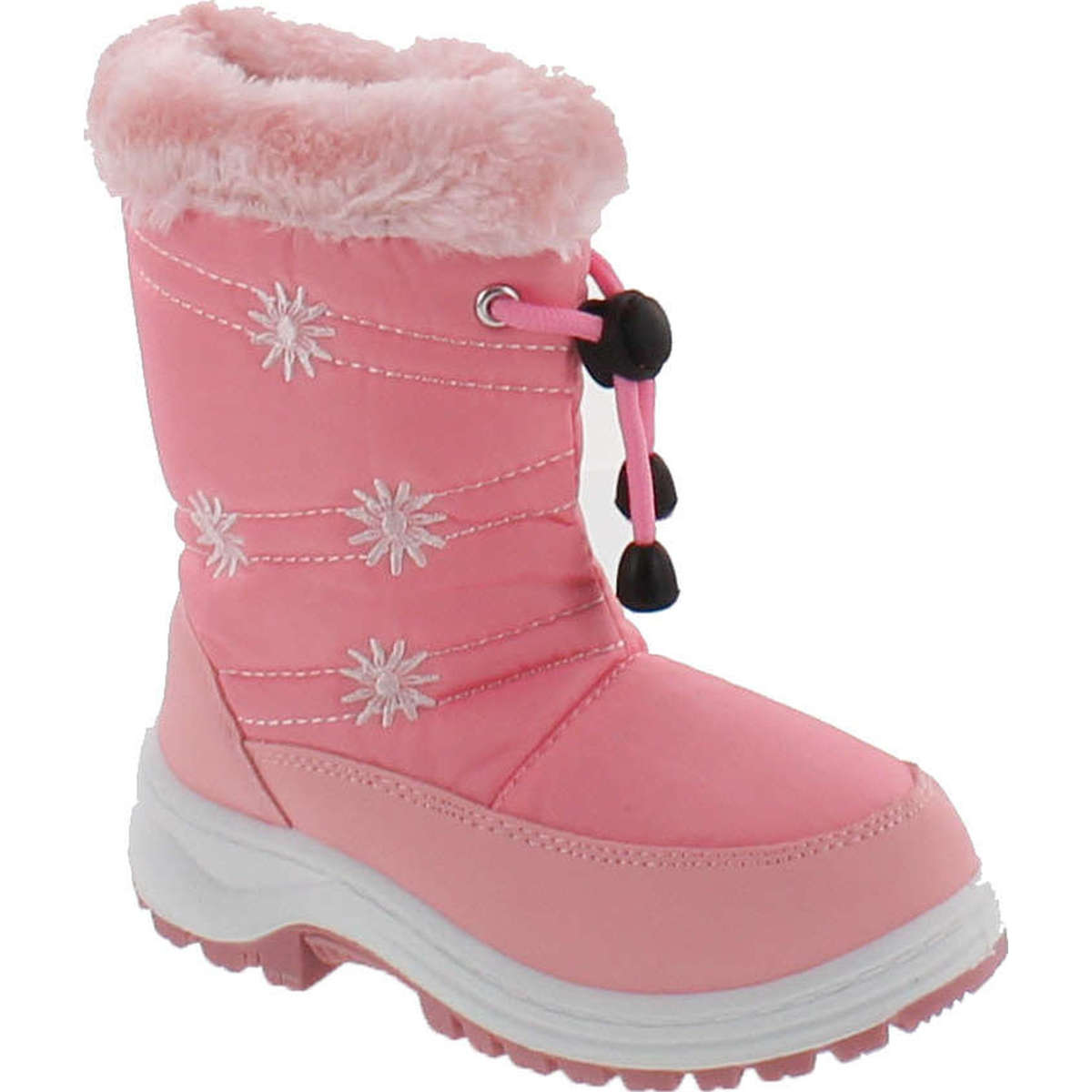 VIA PINKY SCARLETT-51F Children Girl Comfort Flower Warm Mid Calf Snow Boots by Via Pinky