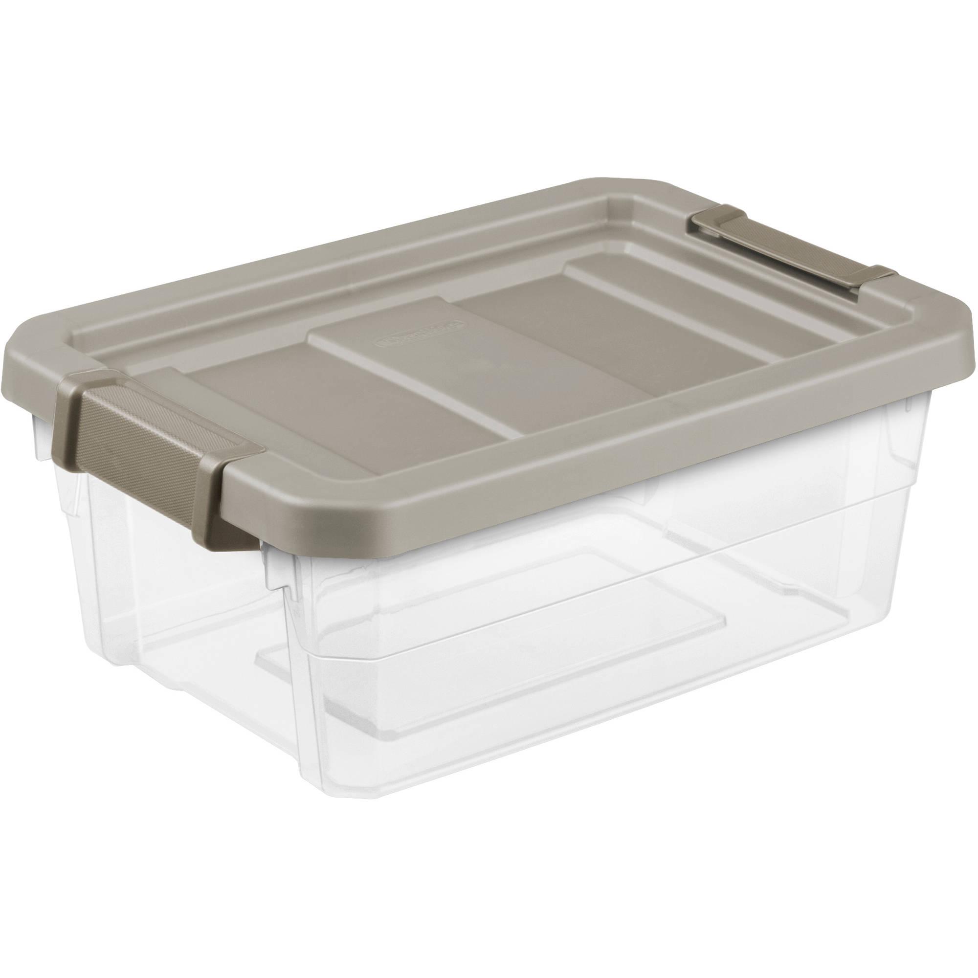 Sterilite 4 Gallon Stacker Box- Mica, Set of 6