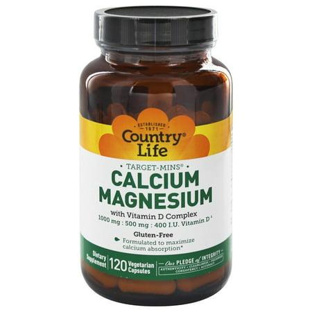 Country Life - Target-Mins Calcium-Magnesium with Vitamin D Complex - 120 Vegetarian