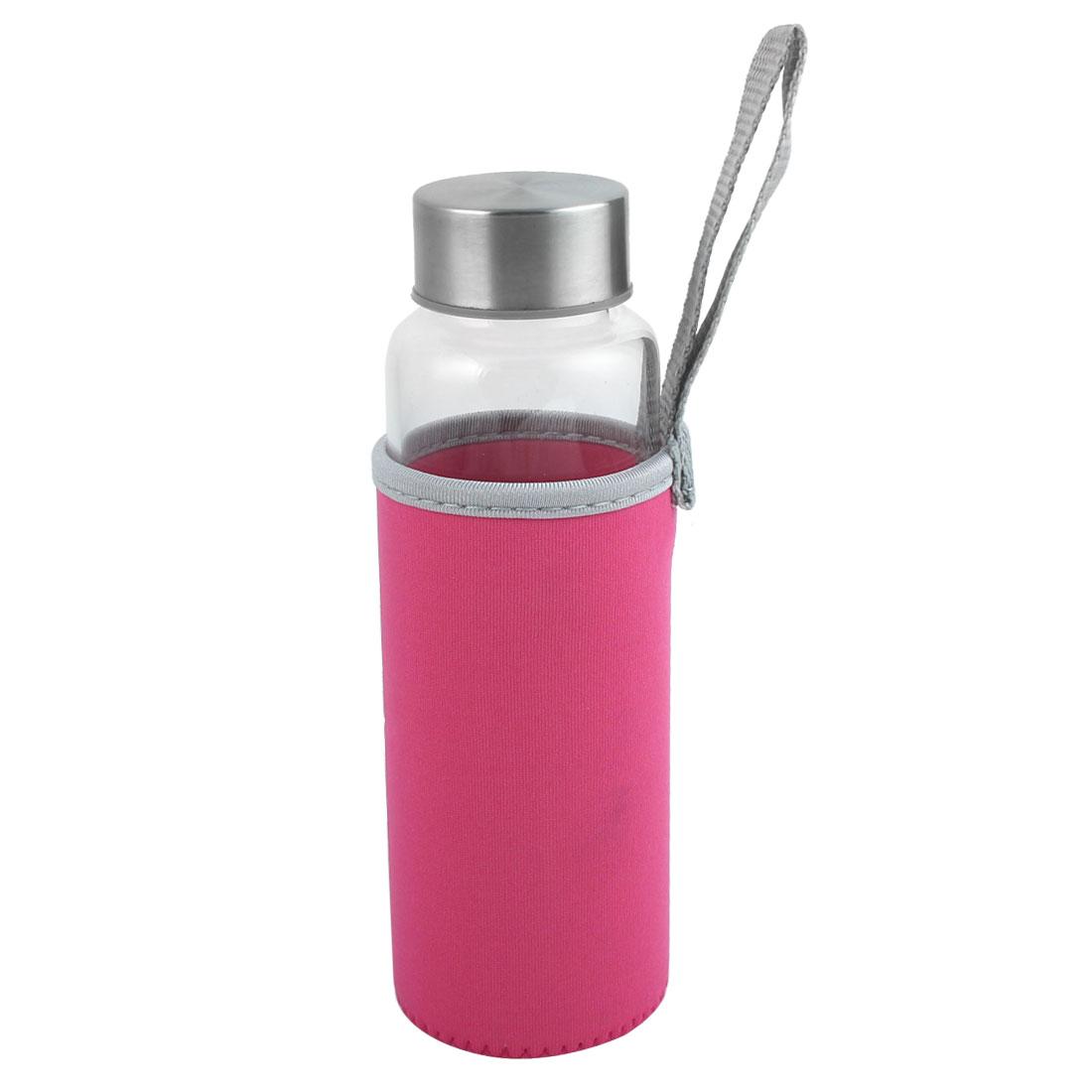 Outdoor Camping Metal Coated Screw Cap Juice Tea Water Bottle Holder Cup 280ml