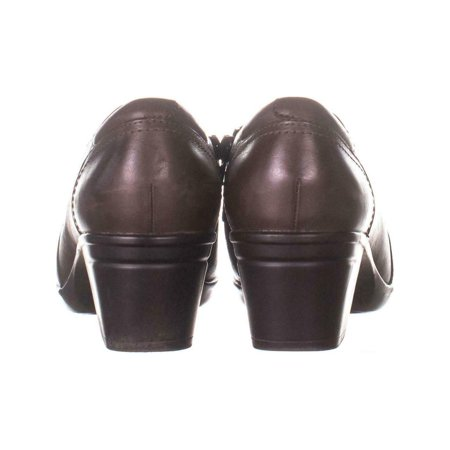Clarks Womens Emslie Craft Leather Almond Toe Clogs
