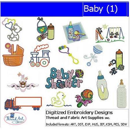 ThreadArt Machine Embroidery Designs Baby Version 1 CD