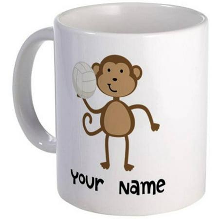 Cafepress Personalized Volleyball Monkey Mug Walmart Com