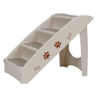 4 Steps Pet Stairs Ladder, Washable Foldable Steps for Dogs and Cats, for Small, Medium, Large Pets
