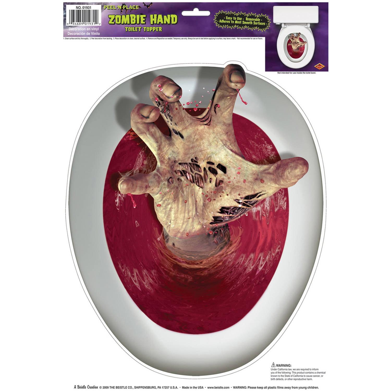 Creepy Toilet Topper Halloween Decoration