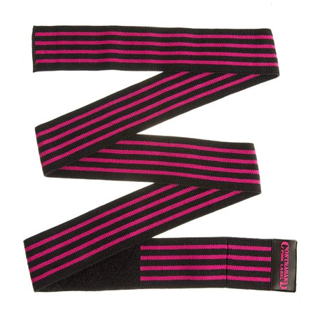 Bodybuilding Knee Wraps (Contraband Pink Label 1057 Knee Wraps With 3in Velcro EZ-Wrap for Bodybuilding, Powerlifting, and Strongman)