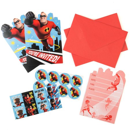 Incredibles Party Supplies 16 Pack Invitations