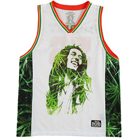 Bob Marley Dreads Leaves Portrait 56 Basketball Jersey (Large) - image 1 of 1