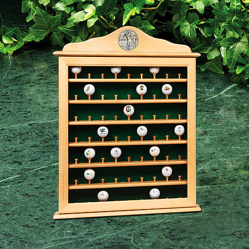 Golf Gifts And Gallery 63 Ball Golf Ball Cabinet With Door And Latch