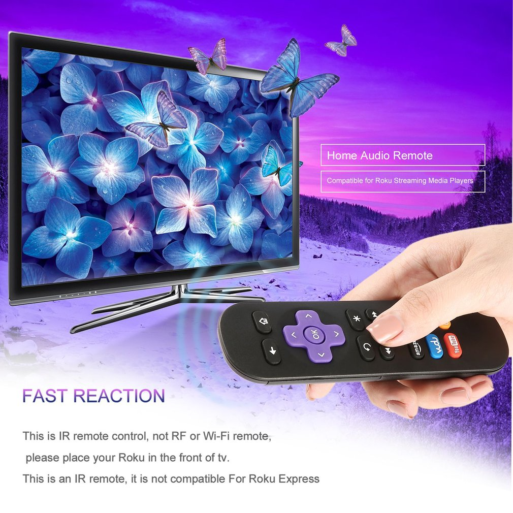 6 Channel Shortcut Keys Infrared Remote Control for ROKU 1 2 3 4 LT HD XD XS