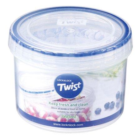 Lock & Lock Easy Essentials Twist Food Storage Container, 12-Ounce Print Twist Lock