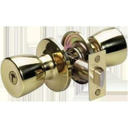 Master Lock TUO-0303 2.12 in. Crossbore Polished Brass Privacy Tulip Handle - image 1 de 1