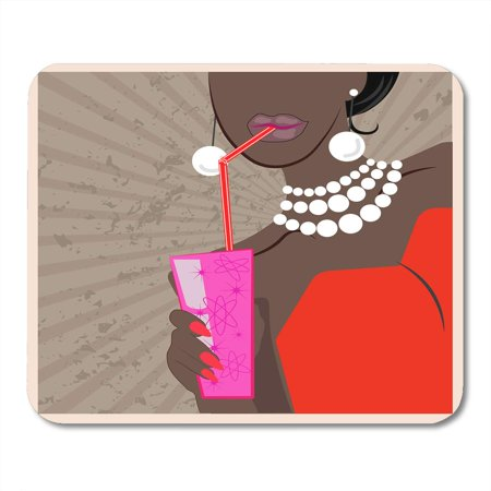KDAGR Cocktail Dance Party 1950S and 1960S Woman Glass Vintage Flat Mid Century Modern Graphic Mousepad Mouse Pad Mouse Mat 9x10 (1960s Glasses)