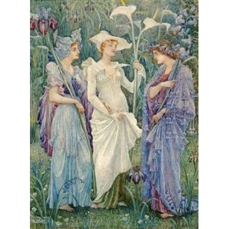 Ensigns Of Spring Poster Print By  Walter Crane