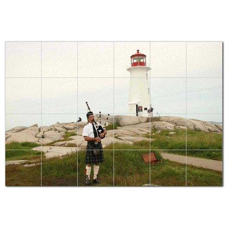 Lighthouse Ceramic Tile Mural Kitchen Backsplash Bathroom Shower 40085