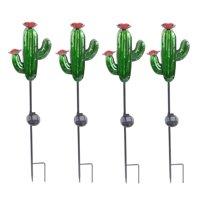 Better Homes & Gardens Outdoor Solar Cactus Garden Stake - Set of 4