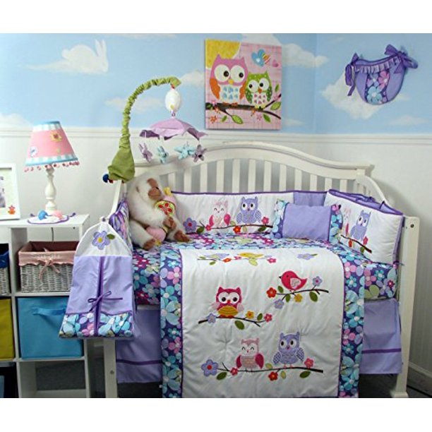 Baby Crib Nursery Bedding Set 14 Pcs