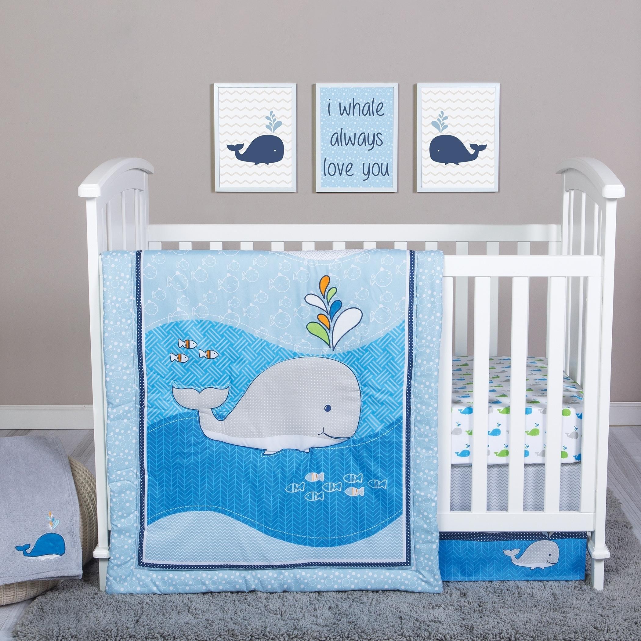 Trend Lab Whale Time 4 Piece Crib Bedding Set Walmartcom