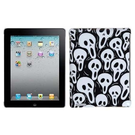 Ghost Apple - Insten Screaming Ghosts Back Case (with Package) for APPLE: iPad 2, The new iPad, iPad 4 (with Retina display)