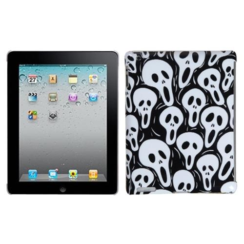 Insten Screaming Ghosts Back Case (with Package) for APPLE: iPad 2, The new iPad, iPad 4 (with Retina display)