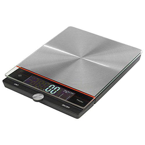 Polder Kitchen Scale: Polder Digital Stainless Steel Kitchen Scale, 22 Lb
