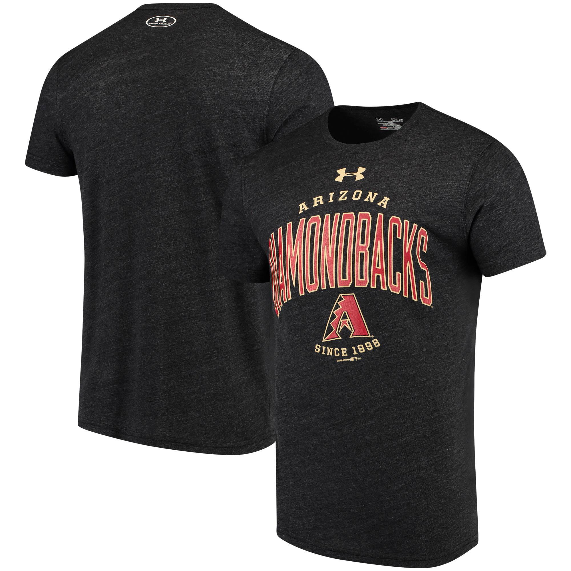 Arizona Diamondbacks Under Armour Team Logo Tri-Blend T-Shirt - Black