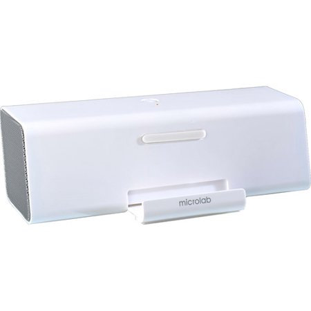 Microlab MD220 Portable Stereo Speaker, White