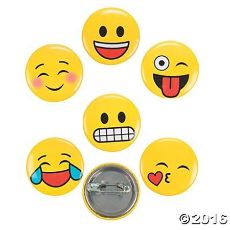 Mini Emoji Buttons - 48pk -