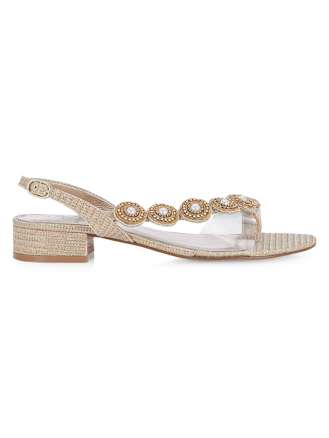 Daisy Asymmetrical Embellished Sandals