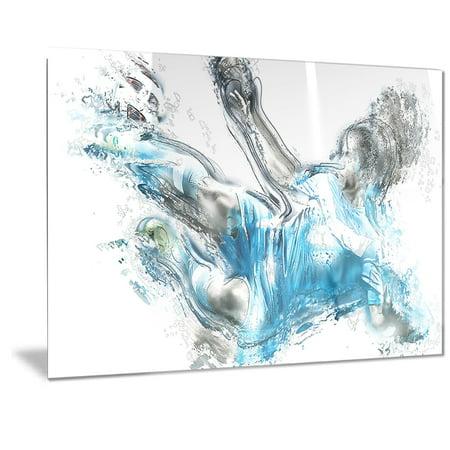 DESIGN ART Designart 'Soccer Power Kick Metal Wall Art