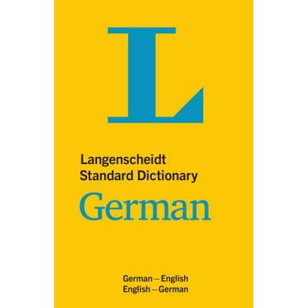 Langenscheidt Standard Dictionary German (The Best German Dictionary)