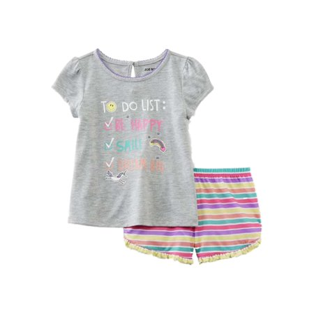 Joe Boxer Infant & Toddler Girls To dot List Pajamas Top & Shorts Sleep Set - Infant Halloween Costumes Boxer