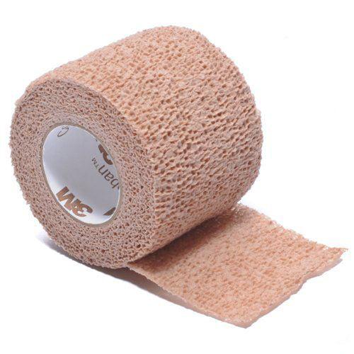 3M Coban Self-Adherent Wrap ''Tan, 1 x 5 , Latex, Non-Sterile, Single Wrap'' 2 Pack