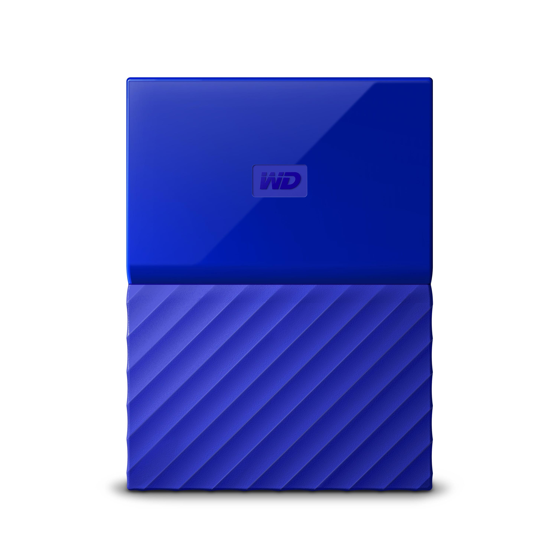 WD 2TB Blue My Passport Portable External Hard Drive - USB 3 0
