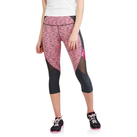 7bf23398279301 Avia - Women's Active Performance Spacedye Capri with Mesh Inserts ...