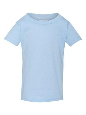 Gildan Little Boys' Taped Neck Heavy Preshrunk T-Shirt, 6T, Light Blue