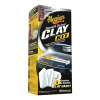 Meguiar's Smooth Surface Clay Kit - Safe and Easy Car Claying for a smooth as Glass Finish, G191700