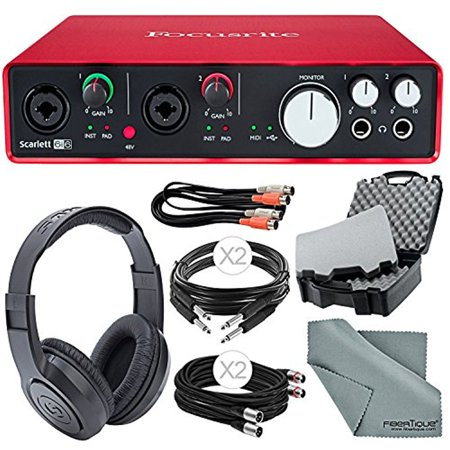 focusrite scarlett 6i6 2nd generation audio interface and accessory bundle with protective. Black Bedroom Furniture Sets. Home Design Ideas